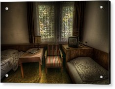 Bed For Two Acrylic Print by Nathan Wright