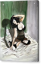 Bed Passion. Acrylic Print by Shlomo Zangilevitch