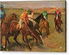 Before The Races Acrylic Print by Edgar Degas