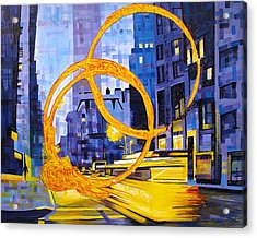 Before These Crowded Streets Acrylic Print by Joshua Morton