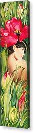 Behind The Curtain Of Colours -the Tulip Acrylic Print by Anna Ewa Miarczynska