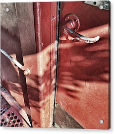 Behind The Red Door Acrylic Print by Jason Politte