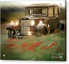 Behind The Wheel Acrylic Print by Edmund Nagele