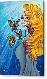 Behold The New Has Come Acrylic Print by Ohso Faboolus