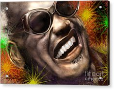Being Ray Charles1 Acrylic Print by Reggie Duffie