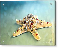 Bejeweled Starfish Acrylic Print by Sylvia Cook