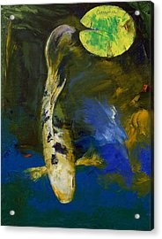 Bekko Butterfly Koi Acrylic Print by Michael Creese