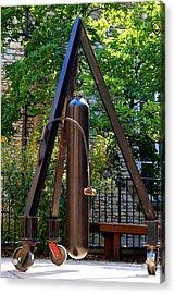 Bell On Wheels Acrylic Print by Chip Vander Wier
