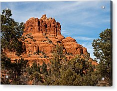 Bell Rock Through The Trees Acrylic Print by Randy Bayne