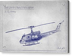 Bell Uh-1h Huey Helicopter  Acrylic Print by Barry Jones