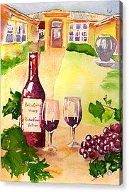 Bella Colina Winery Acrylic Print by Sharon Mick
