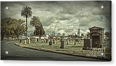 Bellevue Cemetery Crypt - 02 Acrylic Print by Gregory Dyer