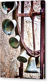 Bells In Sicily Acrylic Print by David Smith