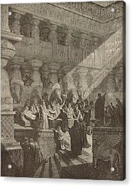 Belshazzar's Feast Acrylic Print by Antique Engravings