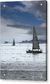 Bembridge Pier From Gosport Acrylic Print by Terri Waters