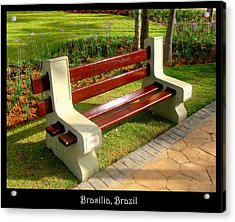 Benches Acrylic Print featuring the photograph Bench 06 by Roberto Alamino