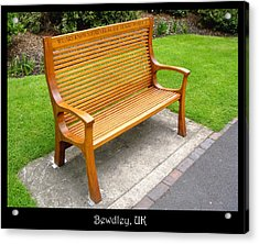 Benches Acrylic Print featuring the photograph Bench 10 by Roberto Alamino