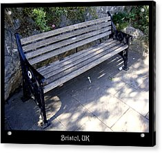 Benches Acrylic Print featuring the photograph Bench 12 by Roberto Alamino