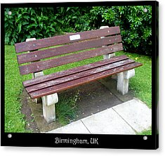 Benches Acrylic Print featuring the photograph Bench 13 by Roberto Alamino