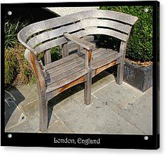 Benches Acrylic Print featuring the photograph Bench 14 by Roberto Alamino