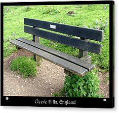 Benches Acrylic Print featuring the photograph Bench 16 by Roberto Alamino