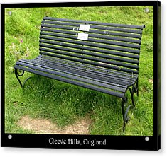 Benches Acrylic Print featuring the photograph Bench #17 by Roberto Alamino