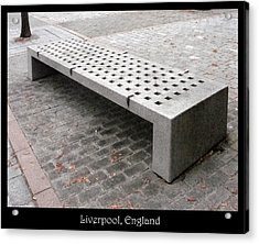 Benches Acrylic Print featuring the photograph Bench #24 by Roberto Alamino