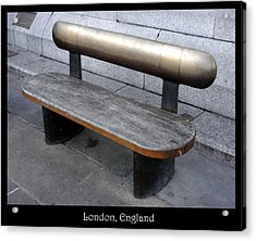 Benches Acrylic Print featuring the photograph Bench #28 by Roberto Alamino