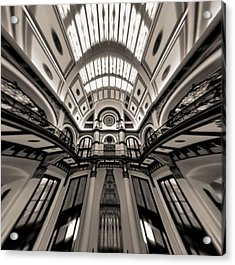 Bending Time In Union Station Acrylic Print by Dan Sproul