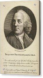Benjamin Franklin Acrylic Print by British Library