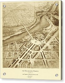 Benjamin Franklin Parkway Plans Acrylic Print by American Philosophical Society