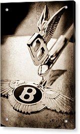 Bentley Hood Ornament - Emblem Acrylic Print by Jill Reger