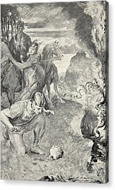 Beowulf Finds The Head Of Aschere Acrylic Print by John Henry Frederick Bacon