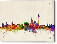 Berlin City Skyline Acrylic Print by Michael Tompsett