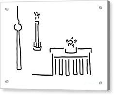 Berlin Gate Tower Acrylic Print by Lineamentum