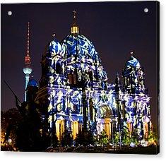 Berlin Light Show Acrylic Print by Iryna Soltyska
