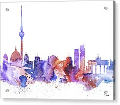 Berlin  Acrylic Print by Luke and Slavi