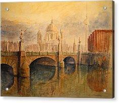 Berliner Dom Acrylic Print by Juan  Bosco