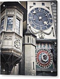 Berne Famous Clock Acrylic Print by Mesha Zelkovich