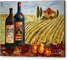 Bernhardt And Retreat Hill Winery Acrylic Print by Tamyra Crossley