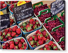 Berries For Sale At The Local Market Acrylic Print by Brian Jannsen