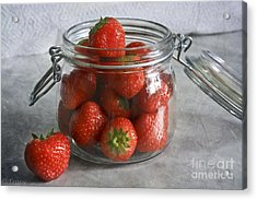 Berry Strawberries Acrylic Print by Tracy  Hall