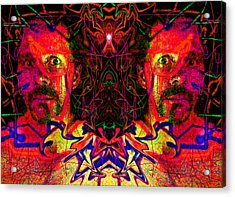 Beside Myself With Entropic Axis 2014 Acrylic Print by James Warren