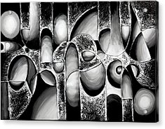 Best Art Choice Award Original Abstract Oil Painting Modern White Black Contemporary Home Gallery Acrylic Print by Emma Lambert