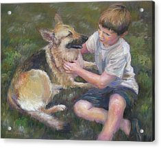 Best Friends Acrylic Print by Bonnie Goedecke