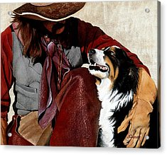 Best Friends Acrylic Print by JK Dooley