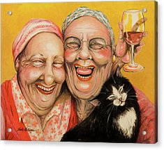 Bestest Friends Acrylic Print by Shelly Wilkerson