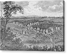 Bethlehem, A Moravian Settlement In Pennsylvania, From The Pageant Of America Acrylic Print by American School