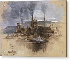 Bethlehem Steel Corporation Circa 1881 Acrylic Print by Aged Pixel