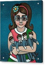 Betty Jeans Beatles Acrylic Print by Victoria De Almeida
